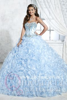 House of Wu Quinceanera Dresses and Gowns Style 26798 House of Wu Quinceanera Collection Spring 2015 Colors: Sky Blue, Pink, White http://www.abcfashion.net/house-of-wu-quinceanera-dresses-26798.html  Call us at 972-264-9100