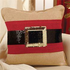 Santa Belt Sequin Pillow Wrap