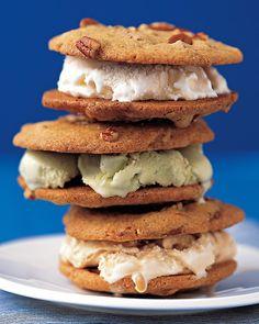Pecan-Cookie Ice-Cream Sandwiches - Martha Stewart Recipes