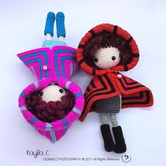 Crochet Doll Pattern  Kayla C 凯拉 C Cloak Girl