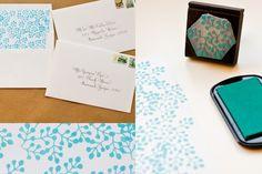 Inspiration: leaf stamp.