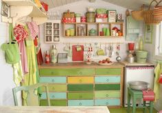 Shabby granny chic home decor kitchen love! Shed Interior, Room Interior, Interior Design, New Room, Play Houses, My Dream Home, Room Inspiration, Colour Inspiration, Sweet Home
