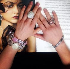 Spring 2014 collection Stephen Dweck Jewelry. Where will your chapter begin with Stephen Dweck. #rings #bracelets #armstack #armparty #semiprecious #gemstones