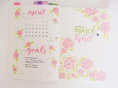 "78 Likes, 6 Comments - Nina's Bujo (@ninasbujo) on Instagram: ""Hello April! Let's do this thing. . . . #bulletjournal #bujo #bujoinspo #bujojunkies #bujolove…"""