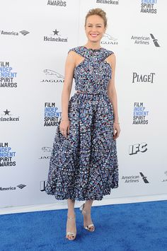Actress Brie Larson arrives at the 2016 Film Independent Spirit Awards on February 27 2016 in Los Angeles California