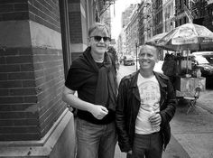 10 september 2012 Andy Fletcher and Martin Gore in Soho. Depeche Mode mixing down the new album in NYC.