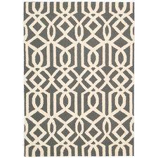 Linear Hand-Woven Grey Area Rug