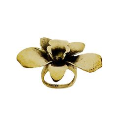 Orchid Brass Ring | Monserat De Lucca