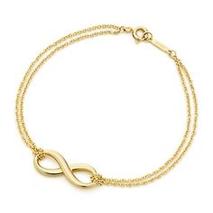 Tiffany Infinity bracelet in 18k gold, medium. But in rose gold to match the infinity necklace I already pinned. And yes, it comes in rose gold. I tried it on in the store just today!