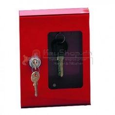 Rødnøgleboks med en krog til at holde en nøgle, som kan være nødvendig i en nødsituation. Break Glas Front. Leveres med lås og 2 nøgler 1 hammer Størrelse: 160 x 120 x 40mmNøgle Blank: IF-1I