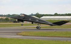 "F-117 Nighthawk ""Stealth Fighter"" Display at the Royal International Air Tattoo (RIAT)"