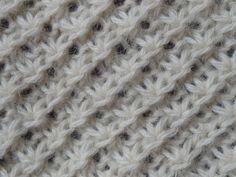 point_de_la_mari_e_end Knitting Stiches, Crochet Stitches, Hand Knitting, Plaid Crochet, Knit Crochet, Knitting Projects, Knitting Tutorials, Stitch Patterns, Needlework