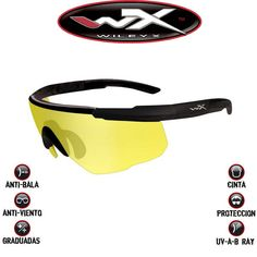 Gafas Wiley X Tácticas Saber Advanced, lantes amarillas anti-viento, anti-arañazos, anti-balas, anti rayos UV-A, pero no anti-económicas. Espectaculares y elegantes #wileyx #saberadvanced