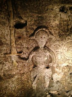 Royston Cave in England near Cambridge.