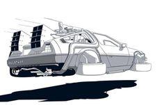 Dmc Delorean, Delorean Time Machine, The Future Movie, Future Car, Back To The Future Tattoo, Sketch Manga, Hip Hop Art, Car Illustration, Fancy Cars