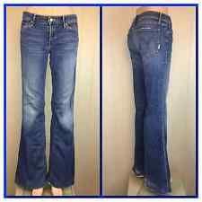 "Mother Jeans The Wilder Medium Kitty Denim Size 27 X 33"" Flare Leg Super Stretch"