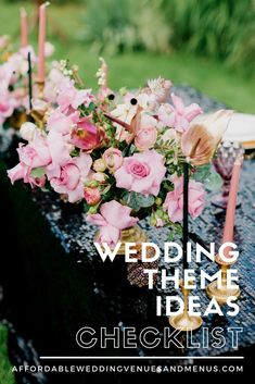 Trying to decide on a wedding theme? Check out this list of unique wedding themes. Wedding themes ideas, wedding theme ideas unique, wedding theme outdoors, wedding theme colors, seasonal wedding themes, holiday theme weddings, wedding theme list, wedding theme checklist. Wedding Reception On A Budget, Elegant Backyard Wedding, Backyard Wedding Dresses, Small Wedding Receptions, Backyard Wedding Decorations, Backyard Wedding Lighting, Inexpensive Wedding Venues, Brunch Wedding, Wedding Themes