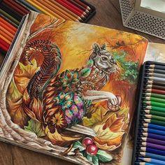 Mais um colorido lindíssimo de @eli_federzoni OmG . #drawing #secretgarden…