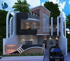 Modern House Facades, Modern Bungalow House, Modern Exterior House Designs, Dream House Exterior, Classic House Design, Unique House Design, Cool House Designs, 3 Storey House Design, Bungalow House Design