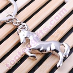 key tags metal horse personalized keychain