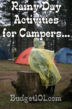 Rainy Day Camping Activites (on the Cheap!)