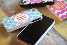 Phone cases! You can design your own pattern and put your own initials on the back! Cute!