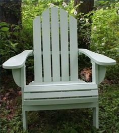 spruce up our adirondack chairs for sunny area of new patio - i like this color too
