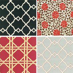 Designer Fabrics (outdoor) by decor8, via Flickr