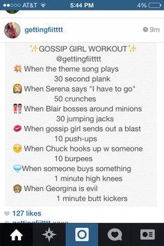 Gossip girl workout