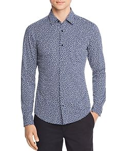 BOSS HUGO BOSS RONNI FLORAL-PRINT JERSEY SLIM FIT SHIRT. #bosshugoboss #cloth