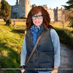 """Carla wins """"most authentic"""" for St. Patrick's Day visiting Ireland in her new designer glasses by Patty Paillette. Eye Candy Eyewear Fashion makes sure all the """"Irish Eyes are smiling""""! Eye Candy Optical Cleveland – The Best Glasses Store! (440) 250-9191 - Book Eye Exam over the Phone www.eye-candy-optical.com/Vision_and_Exams - Book Eye Exam Online!"""