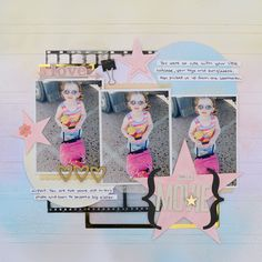 Ideas for a Pastel Rainbow Scrapbook Page Color Scheme | Kristy T | Get It Scrapped