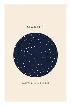 Poétique et inspiré, ce faire-part de naissance Mon étoile photoest une annonce moderne et élégante. Cette création ...