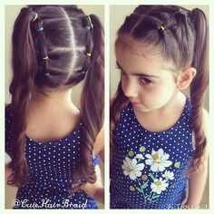 """Two pigstail !! #ponytails #prettybraids #hairstyle #hair #HOTD #tbtschoolhairkids #peinado #hairpost #instaphoto #featuremejehat"""