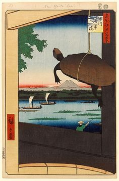 hiroshige-vue-du pont-mannenbashi