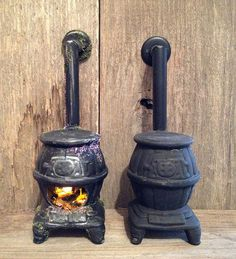 Tutorial: Fairy Dollhouse Wood Stove - I started with a Sonia Messer vintage ceramic wood stove. They cost around $24 and show up routinely on eBay.