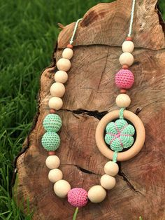Nursing and Teething Necklace / Baby Sling and by LIMASbaby