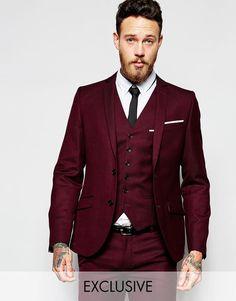 Heart & Dagger   Heart & Dagger Suit Jacket in Birdseye Fabric in Super Skinny Fit at ASOS