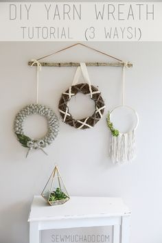 DIY Yarn Wreath Tuto