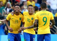 Gabriel Jesus Neymar e Gabigol Brasil e Honduras olimpíada (Foto: Agência…