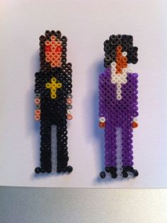 "Mini Hama beads - ""Prince of darkness"" and Prince"
