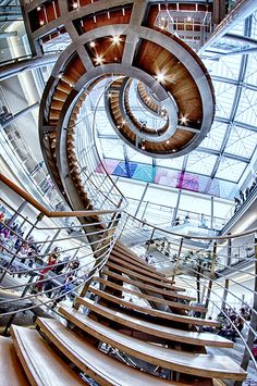 stairs at Leipziger Buchmesse in Germany