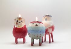 These'd be so cute to make. Il Sung Na ceramic tealight holders… Oh! These'd be so cute to make. Il Sung Na ceramic tealight holders Oh! These'd be so cute to make. Il Sung Na ceramic tealight holders… Ceramic Clay, Ceramic Pottery, Chandelier Bougie, Ceramic Candle Holders, Ceramic Figures, Ceramic Animals, Ceramic Design, Tea Light Holder, Clay Projects