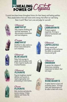 amethyst, labradorite, fluorite, blue agate, lapis lazuli, obsidian, rose quartz, green fluorite