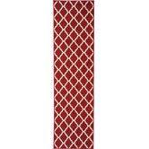 Found it at Wayfair - Ottohome Moroccan Trellis Design Dark Red Area Rug