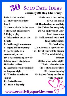 Self care for moms 30 day challenge- solo date ideas. Start the new year off rig. Self care for moms 30 day challenge- solo date ideas. Start the new year off rig. Self care for moms 30 day challenge- solo date ideas. Start the ne. Me Time, No Time For Me, Self Development, Personal Development, Challenges To Do, Love Challenge, Challenge Accepted, Things To Do Alone, New Things To Try