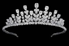 Princess Grace's Van Cleef & Arpels Tiara.  The tiara is comprised of 144 diamonds totalling 77.34 carats, set in platinum and white gold. 1976.