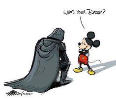 Disney Mickey Mouse Darth Vader and Star Wars Disney Star Wars, Disney Pixar, Funny Disney, Disney Mickey, Walt Disney, Disney Humor, Starwars, Mickey Mouse, Star Wars Rebels