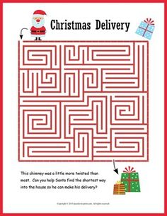 FREE Christmas Puzzle Printables  Word search Maze and Free