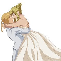 "Fullmetal Alchemist: Brotherhood"" - Riza Hawkeye and Roy Mustang, love this pair. Description from pinterest.com. I searched for this on bing.com/images"